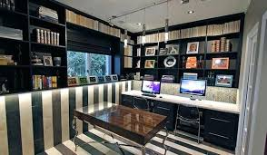 small home office storage. Home Office Storage Designs With 2 Work Stations And Custom Wall Unit . Small