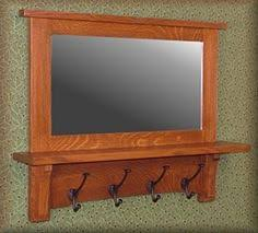Mission Style Wall Coat Rack Mission style bathroom mirror I custom made from salvaged flooring 98
