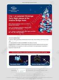 Company: Cosmopolitan Hotels Subject: 2 for 1 on selected Christmas Party  Nights at the