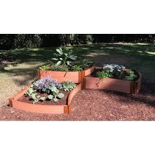 8 x 8 curved corner terrace garden