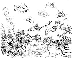 Small Picture Tropical Fish Tank Coloring Page NetArt