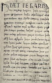 grendel s mother wikiwand the first page of the beowulf manuscript