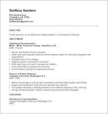 university admission resume sample admissions administrative resume example university  application resume sample