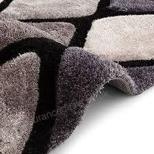 think rugs noble house nh9247 gy hand tufted rug black grey 150 x 230 cm b0793ry7cc