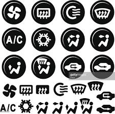 car air conditioner clipart. car dashboard icons, air conditioning and vent : vector art conditioner clipart w