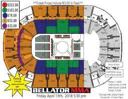 Ufc St Louis Seating Chart Bellator Mma Chandler Vs Girtz