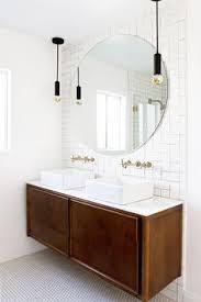 bathroom pendant lighting fixtures. Chandelier Pendant Light Bathroom Sample Round Oval Mirror Reflection Ceramic White Drawer Brown Lighting Fixtures