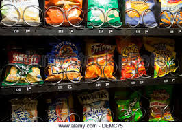 Chip Vending Machine Awesome Popular Chips And Snacks In Vending Machine USA Stock Photo