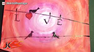 love birds painting how to acrylic painting jk arts 590