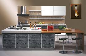 contemporary kitchen furniture detail. Contemporary Kitchen Cabinet Design With Hard Surface Countertop Stainless Steel Range Hood Shelf Bar Stools Furniture Detail O