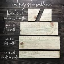 how to make a gorgeous rustic wooden wall bin for farmhouse wall decor in just a