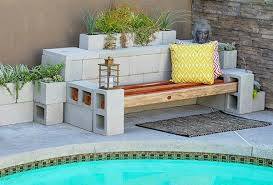 Amazing Cinder Block Furniture With Home Decor Ideas With Cinder