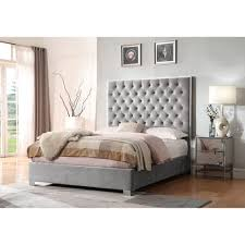 transitional bedroom furniture. Simple Furniture Emerald Home Lacey Gray Upholstered Queen Bed In Transitional Bedroom Furniture R