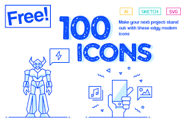 You can download, edit these vectors for. 100 Free Icons Graphic By Creative Fabrica Freebies Creative Fabrica