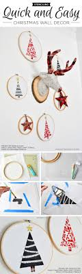 Christmas Wall Art Stenciling Quick And Easy Christmas Wall Decor A Stencil Stories