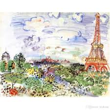 2018 decorative oil paintings raoul dufy canvas reion la tour eiffel hand painted high quality from kixhome 101 51 dhgate com