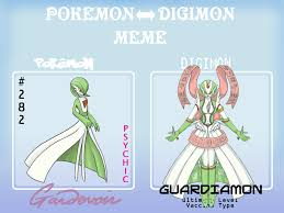 PKMN to Digimon Meme-Gardevoir by Caretaker-of-Myth on DeviantArt via Relatably.com