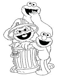 Sesame Street Coloring Pages Coloring Page High Definition Coloring