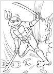 Скачать раскраски черепашка ниндзя