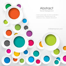 Free Download Colorful Geometric Circle Designs Background Image