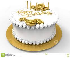 Happy Birthday Cake Stock Illustration Illustration Of White 76487449