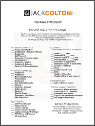 Packing Check List Las Vegas Party Weekend Packing Checklist