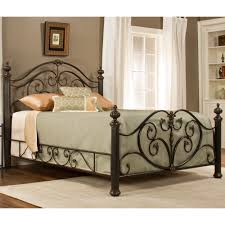 Metal Bed Bedroom Grand Isle Iron Bed In Brushed Bronze By Hillsdale Humble Abode