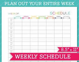 Printable Schedule Template Hashtag Bg