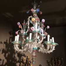 exceptionnal colored glass vénitian chandelier