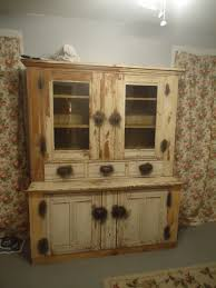 Primitive Kitchen Furniture Primitive Old Cabinet With Drawers And Classic Knob Combine Glass