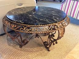 antique wrought iron marble top