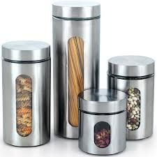 Designer Kitchen Canister Sets Glass Kitchen Canisters Jars Youll Love Wayfair