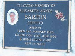 "Elizabeth Agnes ""Betty"" Barton (1920-1996) - Find A Grave Memorial"