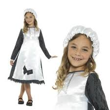 Details About Smiffys Kids Victorian Maid Fancy Dress Costume Girls New  World Book Week Outfit