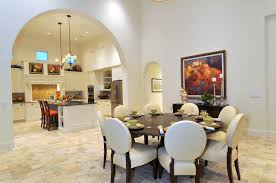 Luxurious Contemporary House Modern Dining Room With Expandable