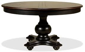 black round dining table with leaf