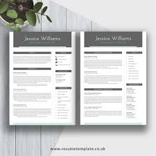 2 Page Cv Template Modern Cv Template For 2019 Simple Resume Fully Editable