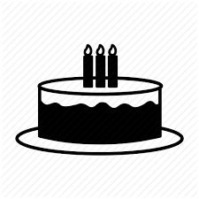 Birthday Cake Candle Celebrating Party Present Tart Icon