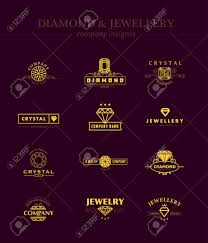 vector vector collection of jewellery and diamond logos flat crystal pany insgnia template vine logo design