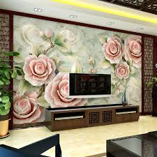 Modern Chinese TV background wallpaper 3D simple bedroom wallpaper
