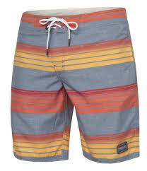 O Neill Pm Santa Cruz Stripe Boardshorts Swimwear Red Aop