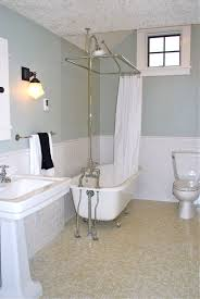 tiled bathrooms designs. Wainscoting Tiles On The Walls And Penny Floor Tiled Bathrooms Designs