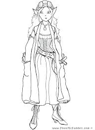 Elf Coloring Pages Steampunk Elf Coloring Page Elf Coloring Pages Pdf