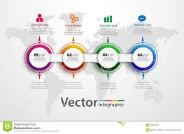 Timeline Chart Infographic Template With 4 Options For