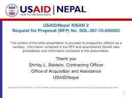 Usaid Org Chart Usaid Nepal Kisan 2 Request For Proposal Rfp No Sol Ppt