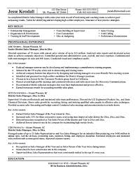 National Sales Manager Resume Objective Job Duties Pdf Area