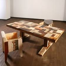 furniture eccentric recycled wood furniture with artistic design looks so great captivating scrapwood table with tiny chair made of refined wooden pieces artistic wood pieces design