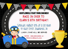 Car Birthday Invitations Free Printable Race Car Party Invitations In 2019 Cars