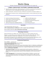 Linux Admin Resume Sample System Administrator Cv Linux Administrator Resume Outstanding 13