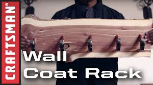 Make Coat Rack How to Make a Wall Coat Rack with Hammer Hooks Craftsman YouTube 91